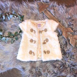 Gymboree faux fur vest